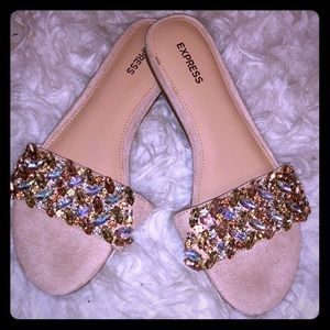 Jeweled Slip On Sandals from Express